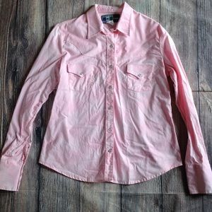 Tops - Medium Western Cowgirl Pink Top